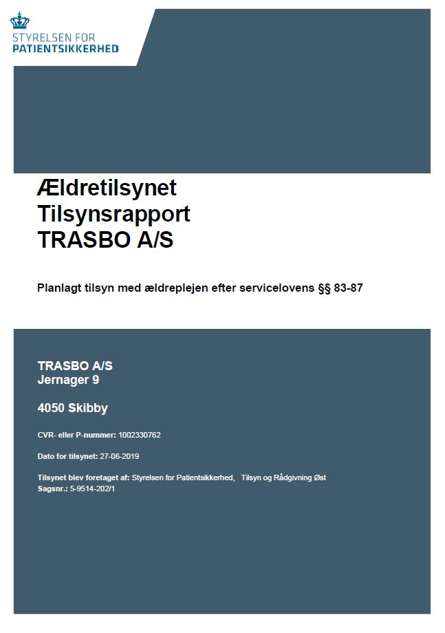 TRASBO Tilsynsrapport _Styrelsen for Patientsikkerhed